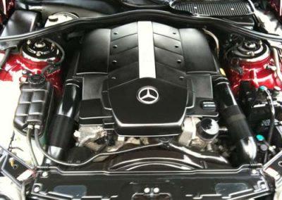 Mercedes engine after